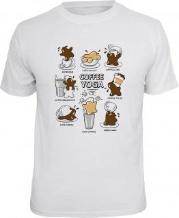 Herren T-Shirt bedruckt - Coffee Yoga - lustige Geschenke für Männer Fun Shirts