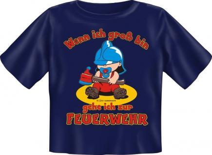 Baby Fun T-Shirt Babyshirt niedlich bedruckt - Ich gehe zur Feuerwehr - Geschenk
