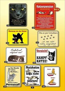Fun Collection Katzen Blechschild Alu Schild Katze Miez Auswahl lustig bedruckt