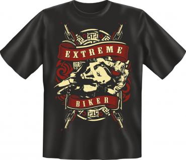 Motorrad T-Shirt Extreme Biker Geburtstag Geschenk Bike Shirt geil bedruckt