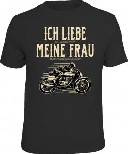 Geburtstag T-Shirt Ich liebe meine Frau und mein Motorrad Bike Shirt bedruckt