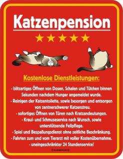 Humor Kühlschrankmagnet Katze Katzenpension Kühlschrank Magnet Fun Schild Metall