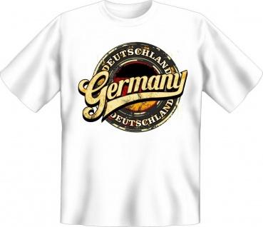 Deutschland T-Shirt Germany weiß Geburtstag Geschenk Shirt geil bedruckt