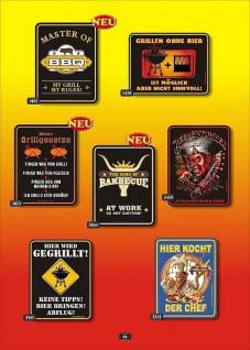 Fun Collection Blechschild Grill Griller Schild Geschenk Auswahl lustig bedruckt