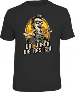 Geburtstag T-Shirt Born in the 60's Nur die Besten Geschenk Shirt geil bedruckt