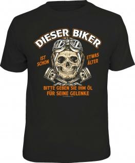 Herren T-Shirt - Biker etwas älter - lustige Geschenke für Männer Fun-Shirts