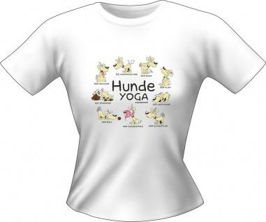 Girlie Shirt Hunde Yoga Lady-Shirt Geburtstag Geschenk T-Shirt geil bedruckt