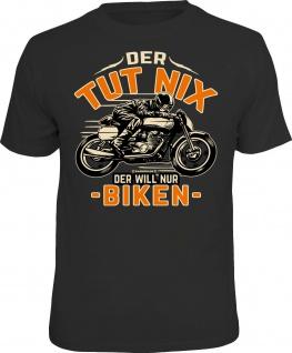 Herren Biker T-Shirt Der tut nix - nur biken Motorrad Bike Geschenk Shirt