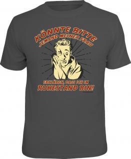 Geburtstag T-Shirt Für meine Frau - Ich bin im Ruhestand Shirt Geschenk bedruckt