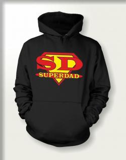 Geburtstag Sweatshirt mit Kapuze mit Vatertag Motiv - Super Dad - geil bedruckt