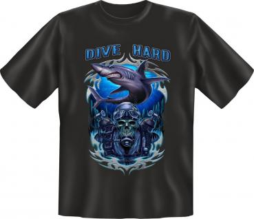 Taucher Geburtstag T-Shirt Dive Hard Tauch Shirt Geschenk geil bedruckt