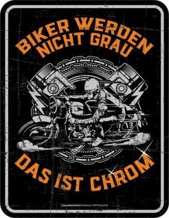 Kühlschrankmagnet Biker werden nicht grau Kühlschrank Magnet Fun Schild Metall