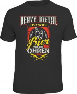 Fun T-Shirt Heavy Metal ist wie Bier für die Ohren Shirt Geschenk geil bedruckt