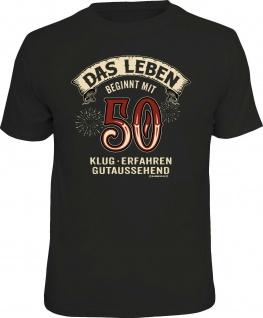 lustiges Geburtstag T-Shirt - Das Leben beginnt mit 50 Herren Shirt Geschenk