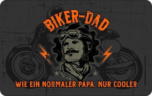Frühstücksbrett - Cooler Biker Dad - Schneide Brettchen Geburtstag Geschenk