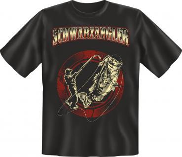 Angler Geburtstag T-Shirt Schwarzangler Angel Shirt Geschenk geil bedruckt