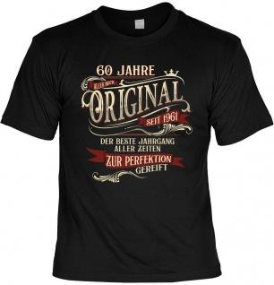 lustiges Geburtstag T-Shirt - 60 Jahre Original seit 1961 Herren TShirt Geschenk