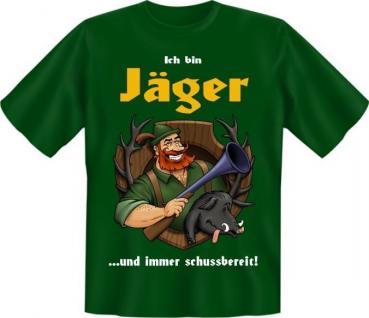 Fun Collection T-Shirt Jagd Jagen Jäger Weidmann Shirt Geschenk Auswahl bedruckt - Vorschau 4
