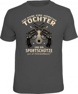 Vatertag T-Shirt Sportschütze und hübsche Tochter Shirt Geburtstag Geschenk
