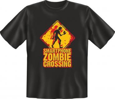 Fun T-Shirt Smartphone Zombie Karneval Fasching Jux Shirt Geschenk geil bedruckt