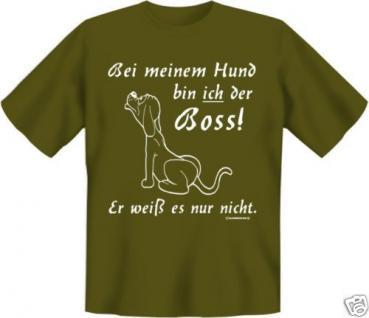 geil bedruckte Fun T-Shirts T Shirt - Boss vom Hund - Geburtstag Spass Geschenk