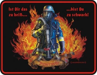 Fun Collection Blechschild Feuerwehr FFW 112 Schild Geschenk Auswahl bedruckt - Vorschau 2