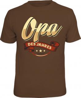 Geburtstag T-Shirt Opa des Jahres Vatertag Männertag Shirt Geschenk bedruckt