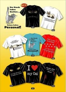 Fun Collection - T-Shirt Shirt mit Katze Motiv Geschenk Auswahl lustig bedruckt