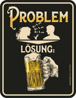 lustiger Kühlschrankmagnet - Problem Lösung Bier - Kühlschrank Magnet-Schild