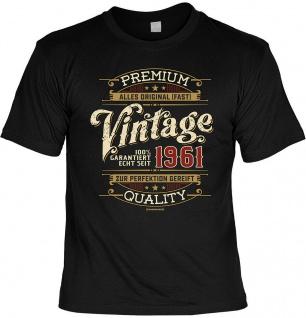 Geburtstag T-Shirt - 60 Jahre 100% Premium Vintage seit 1961 Fun Shirt Geschenk