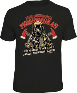 Herren T-Shirt bedruckt - Feuerwehr statt Unfall - lustige Geschenke für Männer