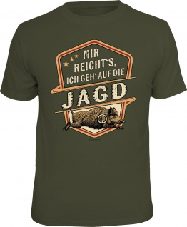 Herren T-Shirt bedruckt - Ich geh auf die Jagd - lustige Geschenke für Männer