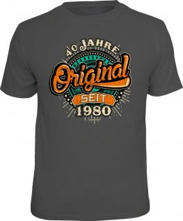 lustige Geburtstag T-Shirt - 40 Jahre Original seit 1980 Fun Shirt Geschenk