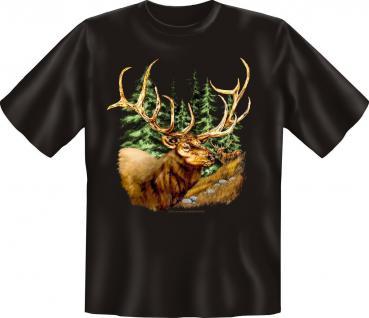 T-Shirt - Hirsch Jäger Jagd Förster Fun Shirts Geburtstag Geschenk geil bedruckt