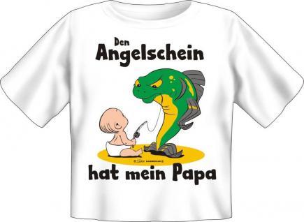 Baby Fun T-Shirt Babyshirt niedlich bedruckt - Angelschein hat Papa - Geschenk