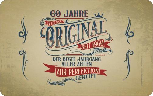Frühstücksbrett Schneide-Brettchen - 60 Jahre - Original seit 1960 - Geschenk