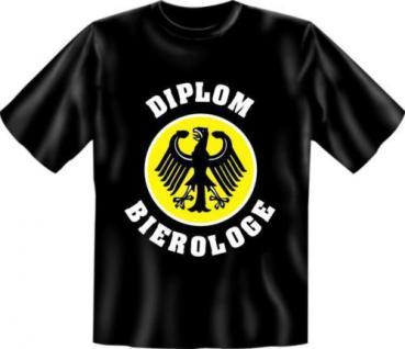 geil bedruckte Fun Shirts Bier T-Shirt - Diplom Bierologe - Geburtstag Geschenk