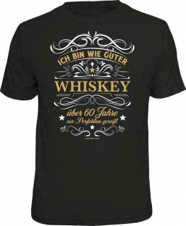 Geburtstag T-Shirt - 60 Jahre gereift wie ein guter Whiskey - Sprüche T Shirt