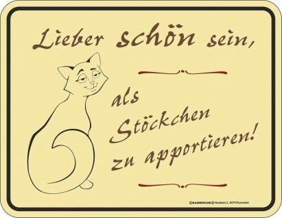Humor Kühlschrankmagnet Katze lieber schön sein Kühlschrank Magnet Schild Metall
