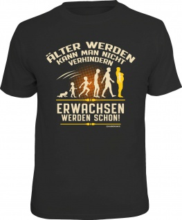 Herren T-Shirt bedruckt - Nicht erwachsen werden - lustige Geschenke für Männer