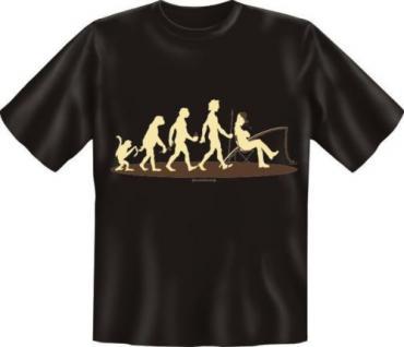 geil bedruckte Angel Fun T-Shirt Shirts - Evolution Angler - Geburtstag Geschenk - Vorschau