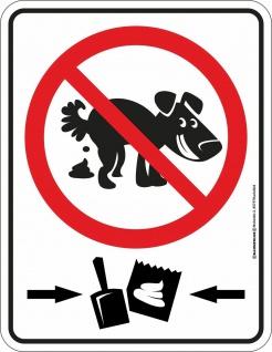 Fun Schild - Hunde-Kacke entsorgen - Alu Blechschild geprägt bedruckt rostfrei