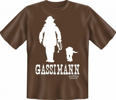 T-Shirt Shirts Hund - Gassimann - Geburtstag Fun Shirt Geschenk geil bedruckt - Vorschau 1