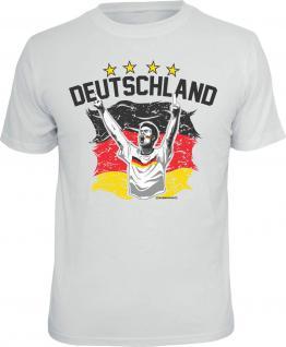 Fussball T-Shirt Deutschland 4 Sterne Trikot Shirt Geschenk geil bedruckt