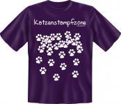T-Shirt Katze - Katzenstampfzone - Fun Shirts Geburtstag Geschenk geil bedruckt