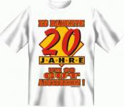 Geburtstag T-Shirt - 20 Jahre