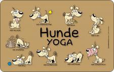 Frühstücksbrettchen Hunde Yoga