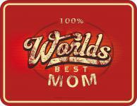 Geburtstag Schild - Worlds Best Mom Muttertag Blechschild