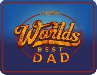 Geburtstag Schild - Worlds Best Dad Vatertag Blechschild
