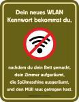 Fun Schild - Das neue WLAN Kennwort Blechschild
